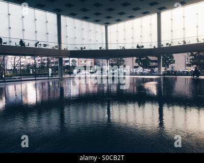 Interior view of first floor of Solid Square building in Kawasaki City, Kanagawa Prefecture, Japan. - Stock Image