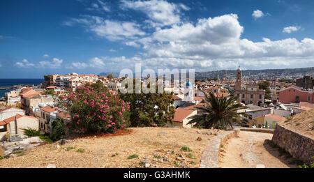 View of Charnia in Crete Island, Greece - Stock Image