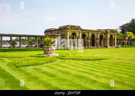 The Loggia, Hever Castle & Gardens, Hever, Edenbridge, Kent, England, United Kingdom - Stock Image