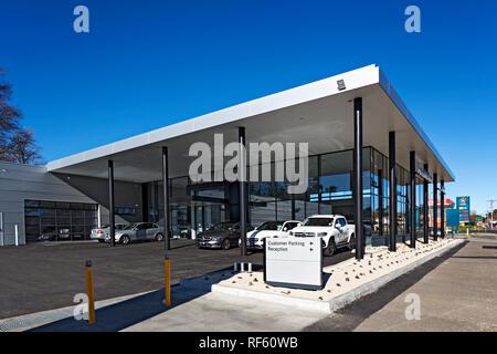 This is the new dealership premises of Mercedes-Benz in Ballarat Victoria Australia.The Ballarat prestige car dealership has been servicing Ballarat a - Stock Image