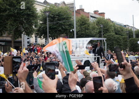 Pope Francis in Dublin - Ireland - Stock Image