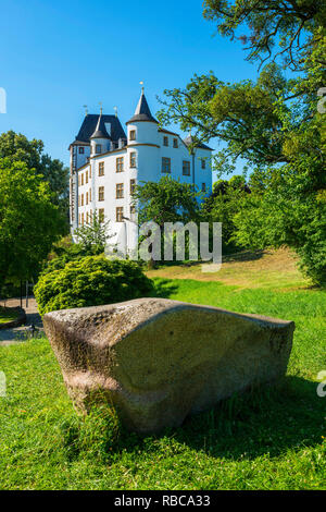Castle hotel, casino and three star restaurant Victor's Residenz, Nennig, Mosel valley, Saarland, Germany - Stock Image