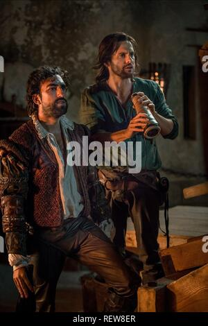 Gregg Chillin & Tom Riley Television: Da Vinci'S Demons : Season 3 (TV-Serie)  Character(s): Zoroaster, Leonardo Da Vinci  Usa 2013-2015, / 3. Staffel, Season 3 24 October 2015  SAP60132 Allstar Picture Library/BBC WORLDWIDE  **Warning**  This Photograph is for editorial use only and is the copyright of BBC WORLDWIDE  and/or the Photographer assigned by the TV or Production Company & can only be reproduced by publications in conjunction with the promotion of the above TV Programme. A Mandatory Credit To BBC WORLDWIDE is required. The Photographer should also be credited when known. No commerci - Stock Image