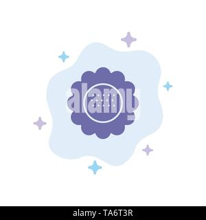 Flora, Floral, Flower, Nature, Spring Blue Icon on Abstract Cloud Background - Stock Image
