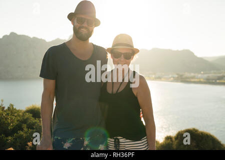 Couple at sea - Stock Image