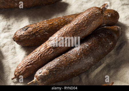 Raw Brown Organic Yucca Root Ready to Use - Stock Image