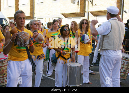 Band in the Notting Hill Carnival Parade 2009 - Stock Image