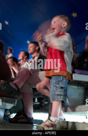 Young boy at the circus, Esex Junction, Vermont, USA - Stock Image