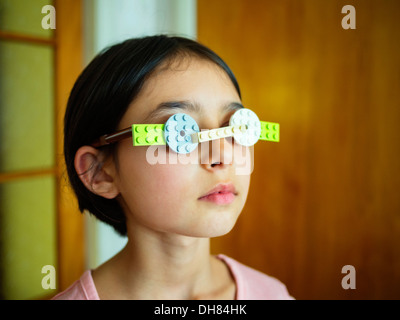 Building block glasses - Stock Image
