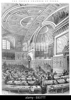 French Chamber of Peers Chambre des Paris 1844 parliament - Stock Image