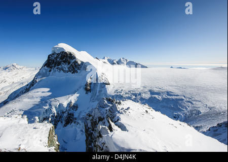Breithorn mountain peak. View from kl. Matterhorn, Zermatt, Switzerland - Stock Image