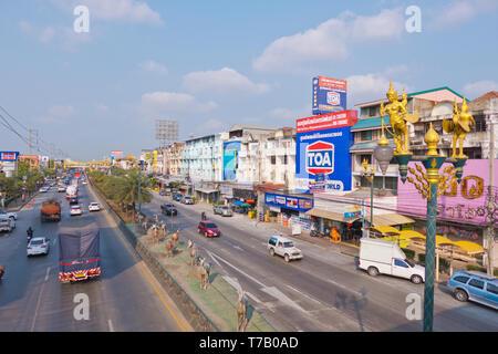 King Kao Road, Park View City Village, Prawet, Bangkok, Thailand - Stock Image