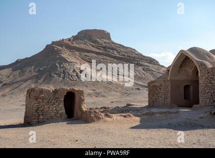 Tower of Silence, zoroastrian site, Yazd, Iran - Stock Image