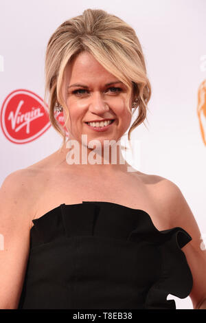 London, UK. 12th May, 2019. LONDON, UK. May 12, 2019: Sinead Keenan arriving for the BAFTA TV Awards 2019 at the Royal Festival Hall, London. Picture: Steve Vas/Featureflash Credit: Paul Smith/Alamy Live News - Stock Image