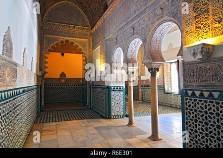 Salon De Los Embajadores In Alcazar Of Seville Spain - Stock Image