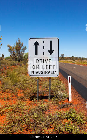 A Reminder Sign for Drivers in AUstralia - Stock Image
