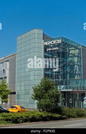 John Lewis modern multi-storey car park Highcross shopping centre, Leicester City centre, England, UK - Stock Image