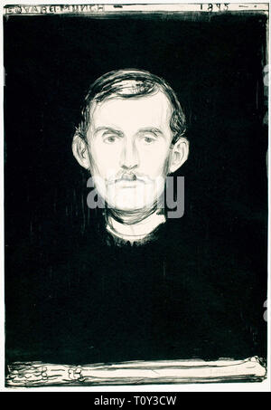 Edvard Munch, Self Portrait, 1895 - Stock Image