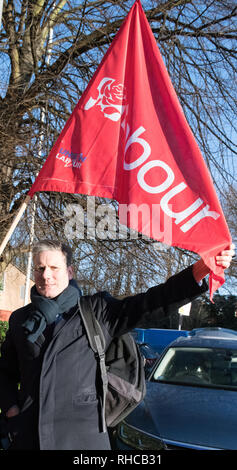 East Midlands Labour Party Conference 2019, Nottingham, Nottinghamshire, England, UK. 2nd. February, 2019. Labour's Shadow Secretary of State for Exiting the European Union Sir Keir Starmer M.P. arriving to debate on Brexit and how leaving the European Union would effect the East Midlands economy with party members at the East Midlands Labour Party Conference 2019. Alan Beastall/Alamy Live News - Stock Image