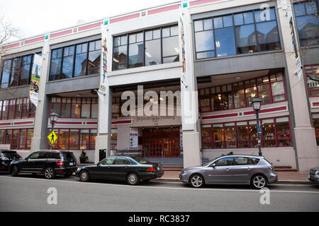View of the front of the Torpedo Factory Art Center in the Old Town Alexandria, Virginia, USA - Stock Image