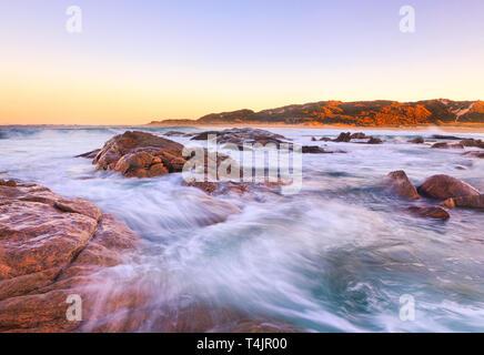 Margaret River, Australia. Prevelly Beach coastline at sunrise. - Stock Image