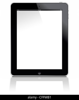 Muenster, Germany - March 12 2012: Pictures shows the Apple ipad 3 digital tablet computer with multi touch screen. - Stock Image