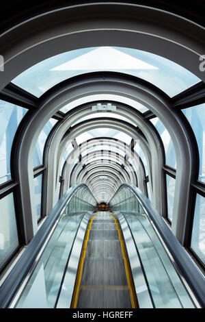 escalator in modern building - Stock Image