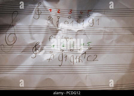 music,scores,music lessons - Stock Image