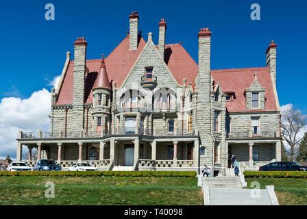 Craigdarroch Castle in Victoria, British Columbia, Canada in the Spring 2019. - Stock Image