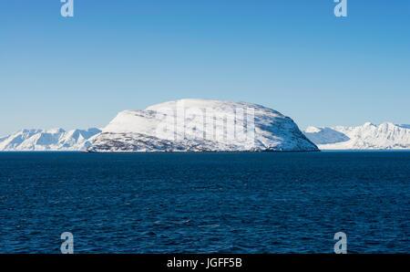 Håja is an island in the municpality of Hammerfest, Finnmark County, Norway. - Stock Image