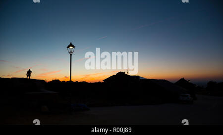Camino de Santiago (Spain) - Sunshine in Foncebadon along the way of St.James - Stock Image