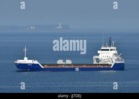Frieda off Lighthouse Bülk - Stock Image
