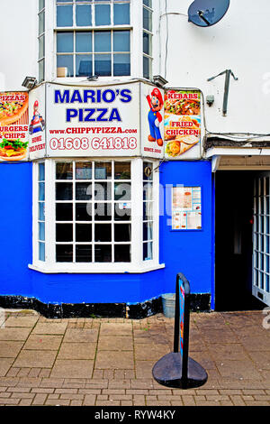 Chipping Norton, Marios Pizza, Oxfordshire, England - Stock Image