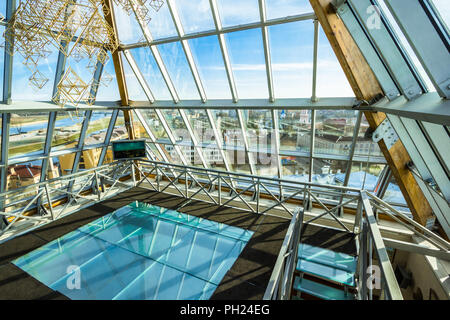 Glass roof on the top of the building - Stock Image