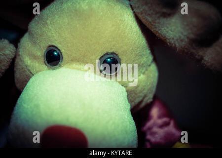 toy reindeer close-up - Stock Image