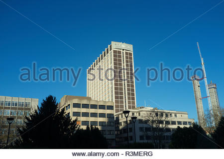 The tower office block called St George's House, locally known as the Nestlé Tower, in Croydon, UK. - Stock Image