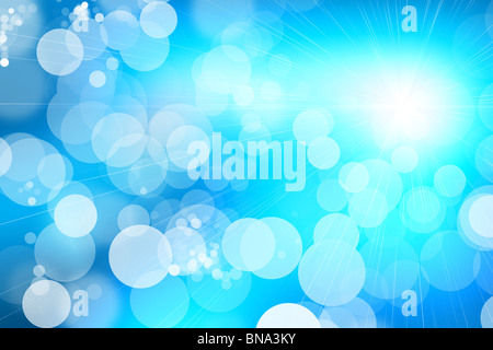 Blue Shiny Abstract Background - Stock Image
