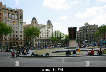 Placa de Catalunya, Barcelona, Spain - Stock Image