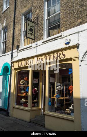 Laird Hatters shop Green Street Cambridge 2019 - Stock Image