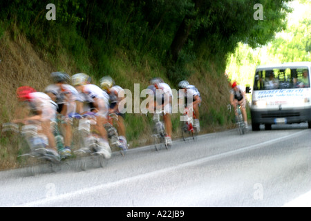Cycling is a popular sport in Italy with numerous clubs and road races. - Stock Image
