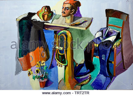 Amitie a Friendship  Richard Lindner by Jean Helion France, French - Stock Image