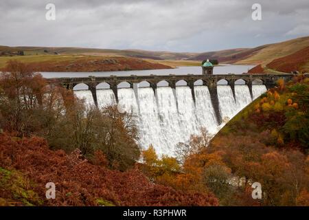 Craig Goch Dam Elan Valley Ryhayader Powys Wales UK - Stock Image
