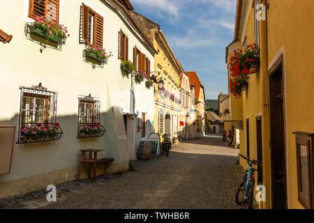 Street in Durnstein. Wachau Valley. Austria. - Stock Image