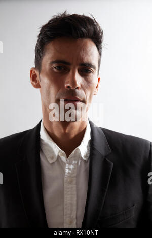 Portrait of Man in Blazer - Stock Image