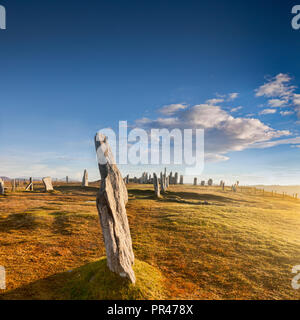 Standing Stones at Callanish, Isle of Lewis, Outer Hebrides, Highland, Scotland, UK - Stock Image