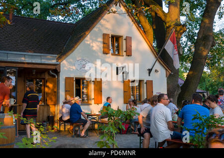 Petersbecks beer cellar and garten Höchstadt, Franconia, Bavaria, Germany, - Stock Image