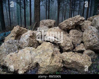 Heap of stones - Stock Image