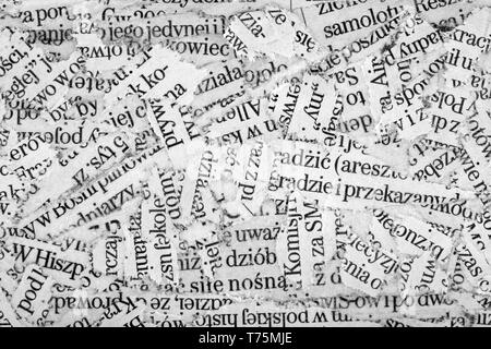 Newspaper paper strips background - Stock Image