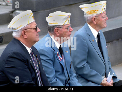 WWII veterans at D Day ceremony in Annapolis, Md - Stock Image