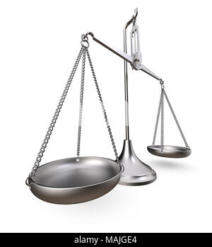Metal scale. Worn and rough metal. Perspective view on white background. 3D render. - Stock Image
